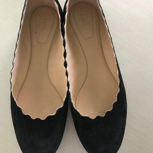 "CHLOE ""Lauren"" Scalloped Ballet shoe"